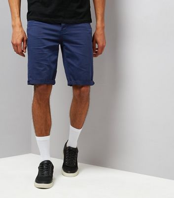 Navy 5 Pocket Slim Leg Shorts