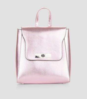 Pink Metallic Mini Backpack