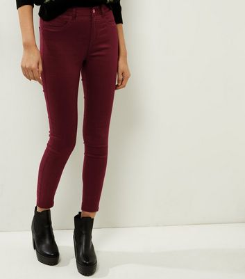 Dark Purple Super Skinny Ankle Grazer Jeans