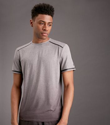Grey Ombre Space Dye Sports T-Shirt