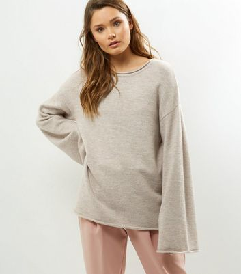 Cream Flared Sleeve Jumper