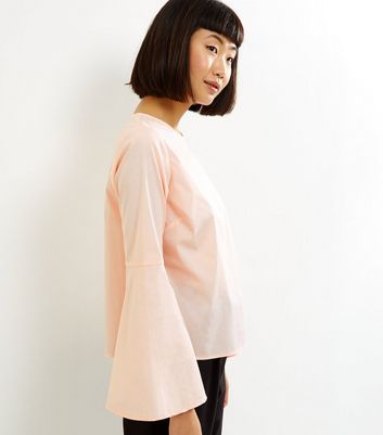 Shell Pink Flare Sleeve Top