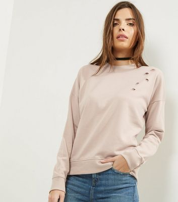 Stone Ripped Long Sleeve Sweater