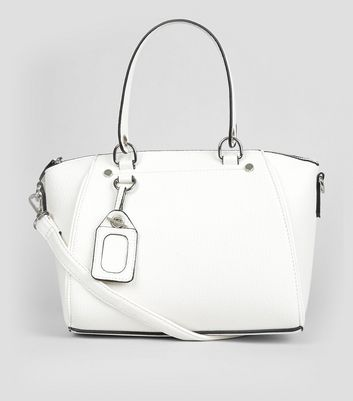 White Mini Bowler Bag