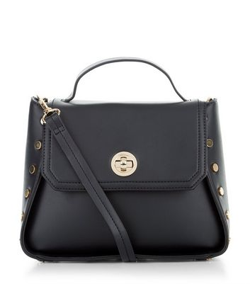 Black Stud Side Shoulder Bag