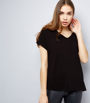 Black Eyelet Trim Tie Back Woven Top