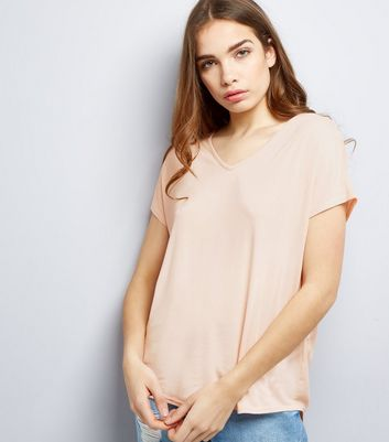 Mid Pink Eyelet Trim Tie Back Woven Top
