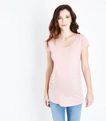 Maternity Mid Pink Scoop Neck T-Shirt