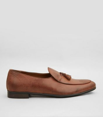 Tan Tassel Front Loafers