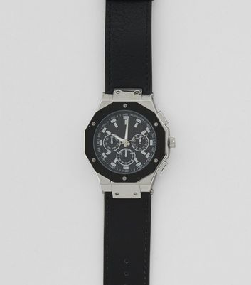 Black Dial Oversized Watch