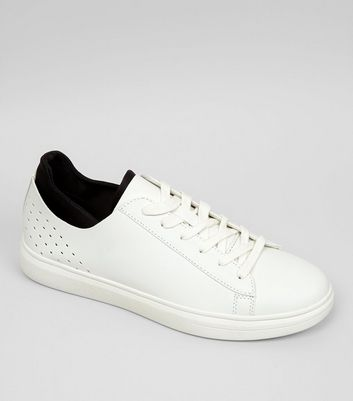 White Contrast Trim Sneakers