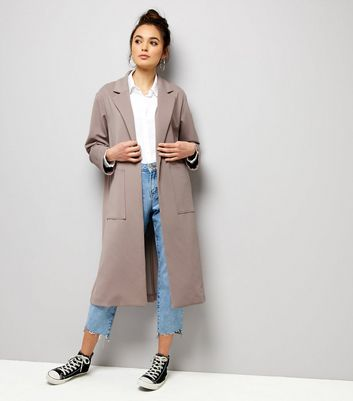 Lilac Soft Maxi Duster Coat