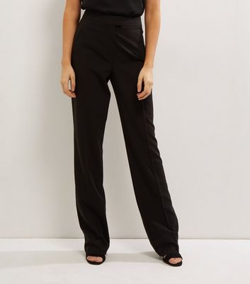 Tall Black Bootcut Suit Trousers