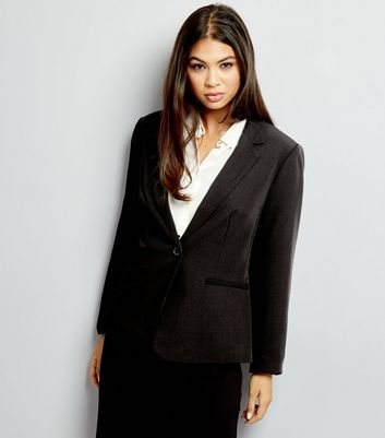 Tall Black Button Front Suit Jacket