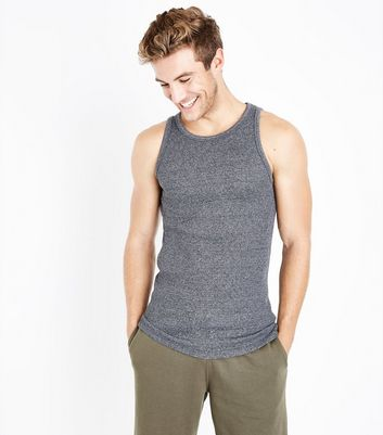 Grey Marl Ribbed Vest