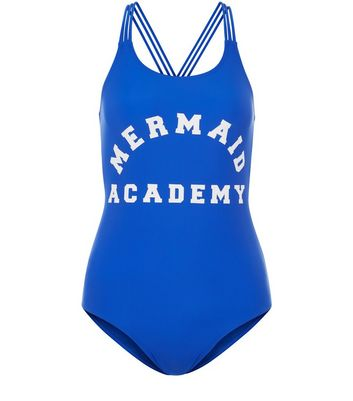 Teens Blue Mermaid Academy Swimsuit