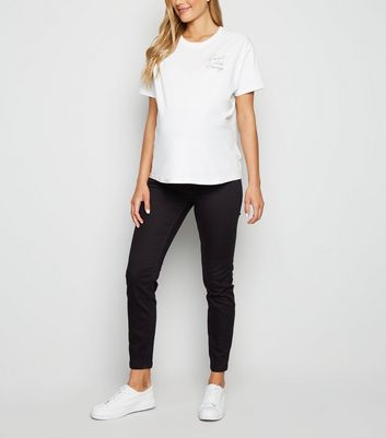 Materntiy Black Over Bump Jeggings