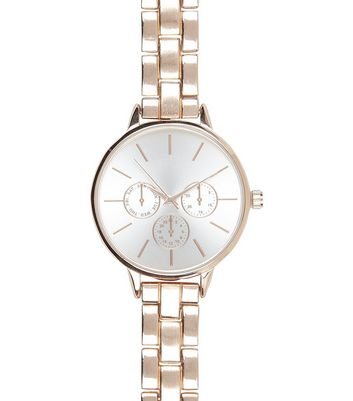 Rose Gold Links Sports Watch