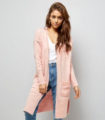 Shell Pink Ribbed Cardigan