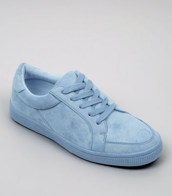 Teens Blue Suedette Trainers