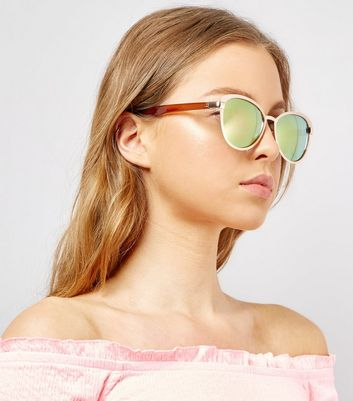 Pink Matte Holographic Lens Sunglasses