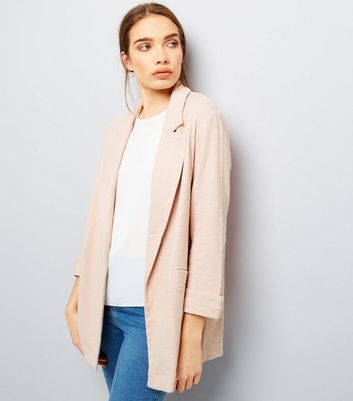 Shell Pink Girlfriend Jersey Blazer