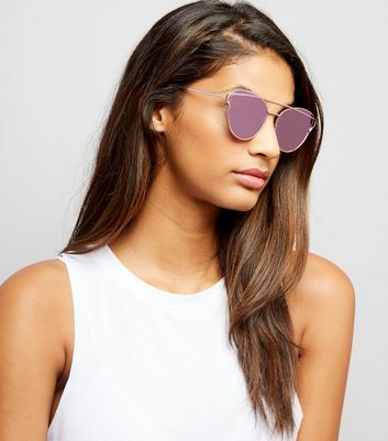 Pink Bar Front Sunglasses