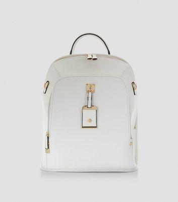 White Structured Backpack