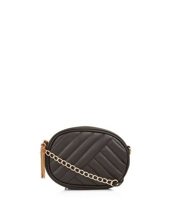 Black Quilted Tassel Trim Bag