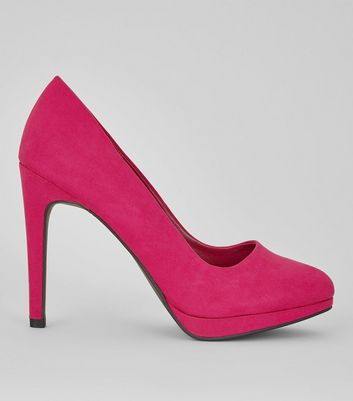 Pink Pointed Court Heels