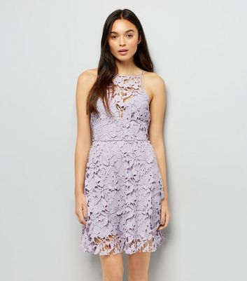 Mink Premium Lace Strappy Skater Dress