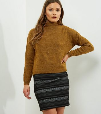 Olive Green Turtle Neck Cropped Jumper