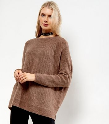 Mid Pink Ribbed Long Sleeve Jumper