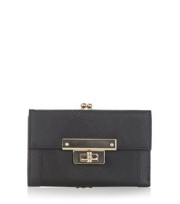 Black Lock Front Purse