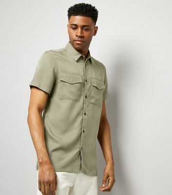 Khaki Short Sleeve Utility Shirt
