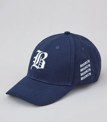 Navy Brooklyn Embroidered Cap