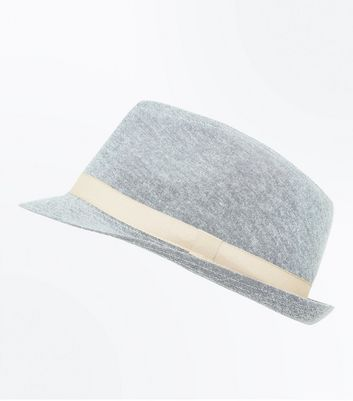 Grey Contrast Trim Trilby