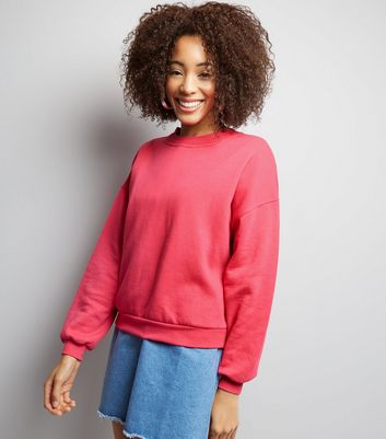 Bright Pink Long Sleeve Sweater