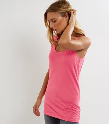 Tall Bright Pink Scoop Neck Vest
