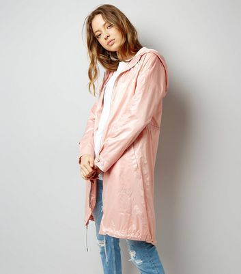Pink Metallic Lightweight Parka
