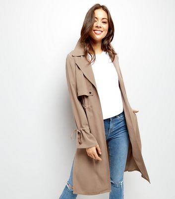 Mink Flared Sleeve Trench Coat