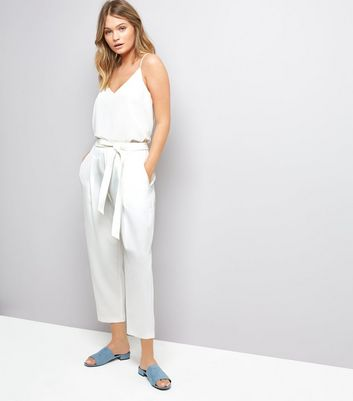 White Tie Waist Trousers