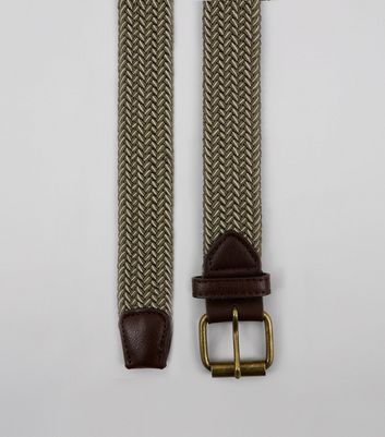 Khaki Elasticated Belt