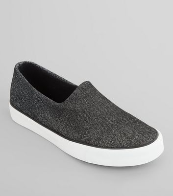 Tennis Slip On noires brillantes