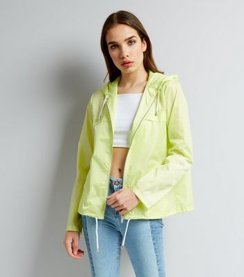 Yellow Hooded Fold Away Anorak