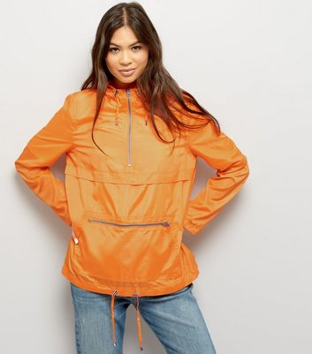 Bright Orange Pull-Over Fold Away Anorak