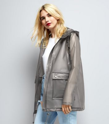 Grey Transparent Anorak