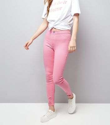 Pink Ripped Skinny Hallie Jeans