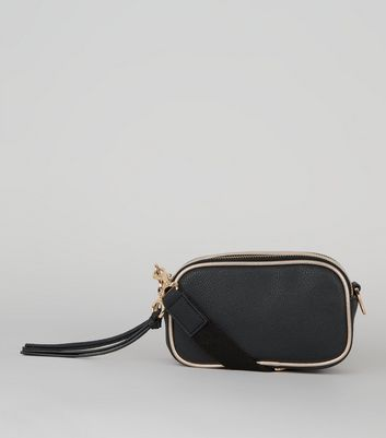 Black Metallic Trim Camera Bag