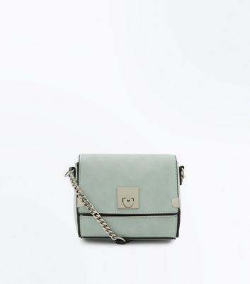 Mint Green Micro Cross Body Box Bag